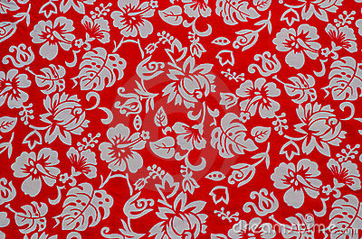 Hawaiian fabric with white flowers