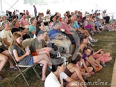 Hawaiian Dance Troupe Audience Editorial Stock Image