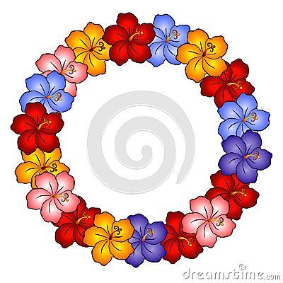 """Blue Hibiscus Flower Kukui Nut Leis - 32 Black Seeds - 36"""". Premium Hawaiian"""