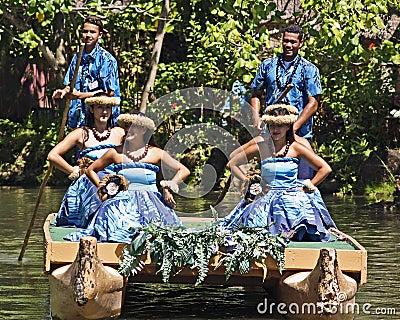 Hawaiian Performers Editorial Photo