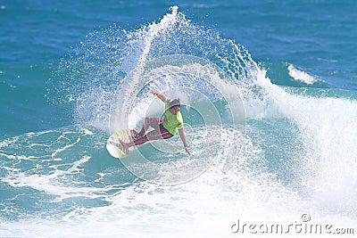 Hawaiian Pro Surfer Kekoa Bacalso Editorial Stock Image