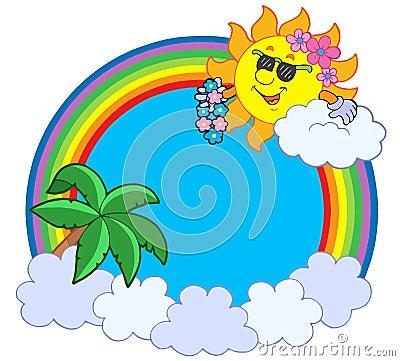 Hawaiian rainbow circle