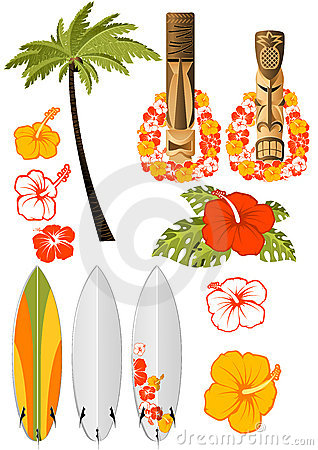 Free Hawaiian Rest Attributes Stock Image - 14118711