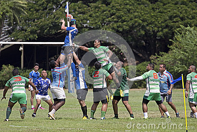 Hawaiian Rugby Editorial Stock Photo