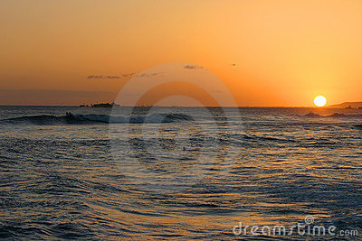 Hawaiian Sunset Over the Pacific Ocean