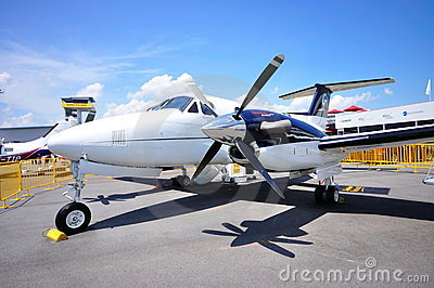 Hawker Beechcraft King Air B200GT at Airshow Editorial Stock Photo