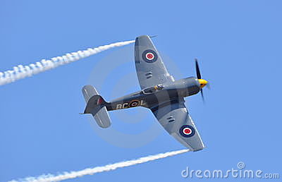 Hawker Sea Fury Editorial Stock Image