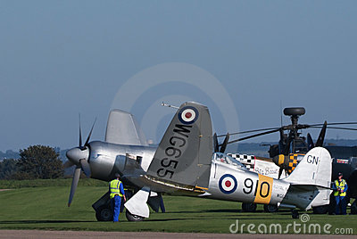 Hawker Sea Fury unfolds its wings Editorial Image