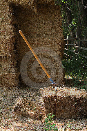Free Hay Bails And Pitch Fork Royalty Free Stock Images - 5774559