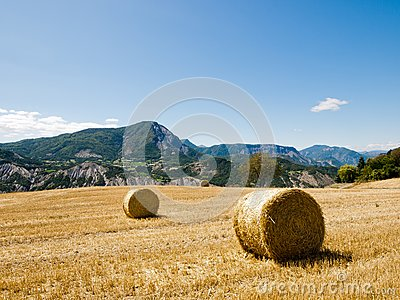 Hay bales in Provence, France