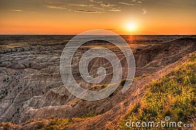 Hay Butte Overlook Sunset - Badlands National Park