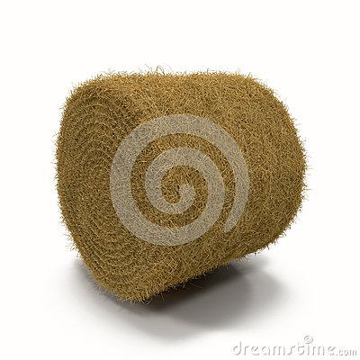 Free Hay Roll On White Background Royalty Free Stock Photo - 63175025