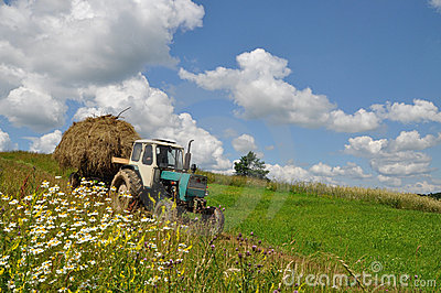 Hay Transportation. Stock Images - Image: 15096384