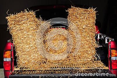 Hay in truck