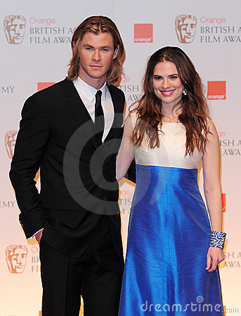 Hayley Atwell, Chris Hemsworth Editorial Photo