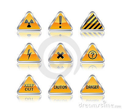 Hazard and danger signs