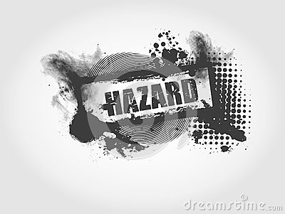 Hazard Grunge Background