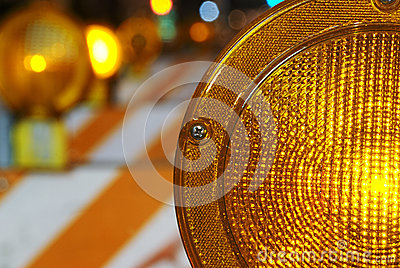 Orange construction or hazard light