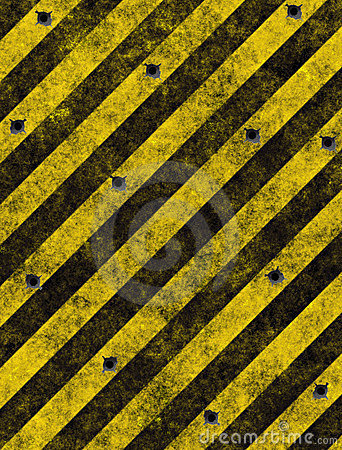 Hazard stripes warning sign