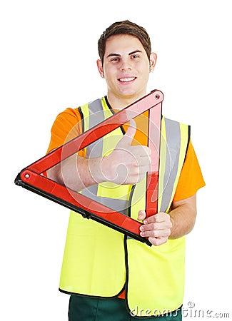 Hazard triangle guy