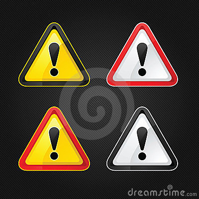 Hazard Warning Attention Sign Set Royalty Free Stock Photography - Image: 23542257