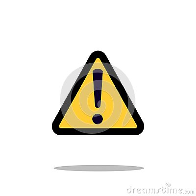 Free Hazard Warning Attention Sign With Exclamation Mark Symbol Icon Vector Illustration Stock Images - 104230854