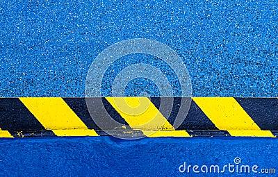 Hazard Warning Paint on Floor