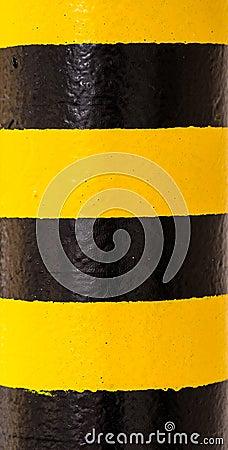 Hazard Warning Paint on Pillar