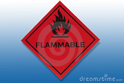 Hazard Warning Sign - Flammable