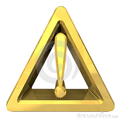 Free Hazard Warning Sign With Exclamation Mark Royalty Free Stock Images - 14924729