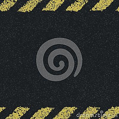 Hazard yellow lines background.