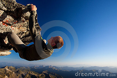 Hazardous rock climbing