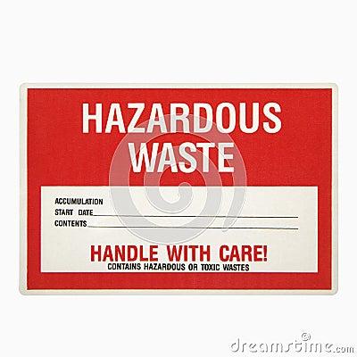 Free Hazardous Waste Sign. Royalty Free Stock Photo - 3532445