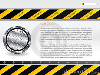 Hazardous website template