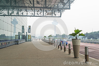 Haze Airport Editorial Photography