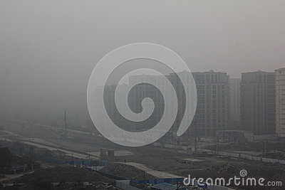 Haze of china Editorial Photography