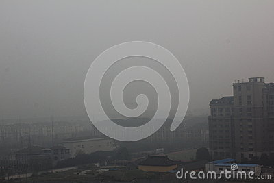 Haze of china33 Editorial Image
