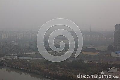 Haze of china333 Editorial Image
