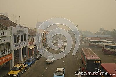 Haze hazard at Malaysia Editorial Photo