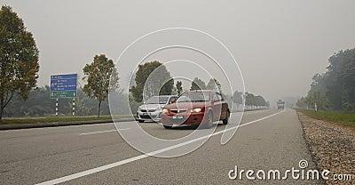 Haze hazard at Malaysia Editorial Stock Image