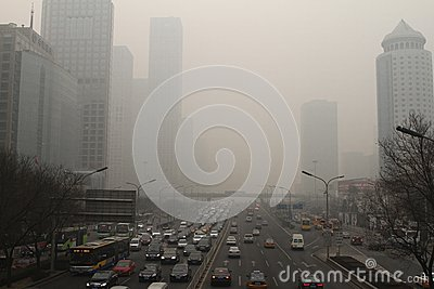 Haze heavier around Beijing Editorial Stock Image