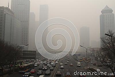 Haze heavier around Beijing Editorial Stock Image