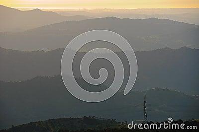 Haze hills landscape