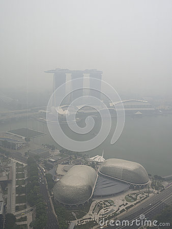 Free Haze Over Singapore Stock Images - 92790264