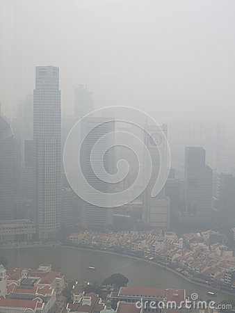Free Haze Over Singapore Stock Images - 92790284