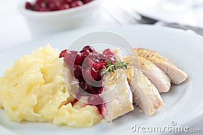 Hazel Grouse with mashed potato