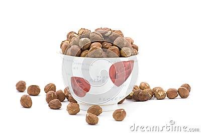 Hazel nut in cup