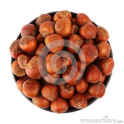 Hazelnut in the bowl