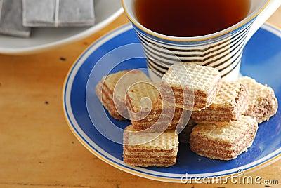 Hazelnut wafer