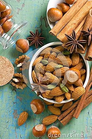 Hazelnuts, cinnamon, anise, almonds, cardamom.